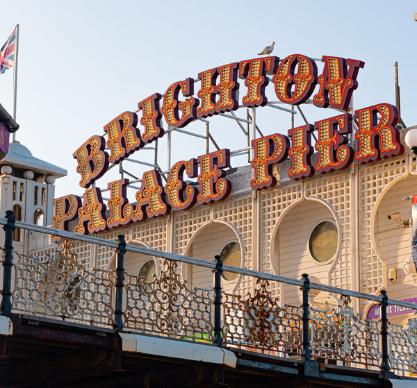 Image of the Brighton palace pier lights