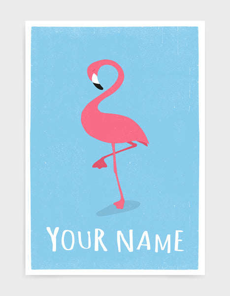kids pink flamingo
