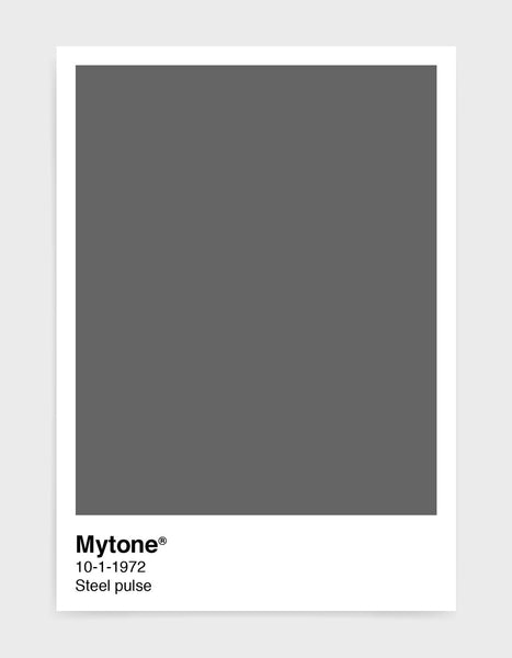 Pantone style art print with custom colour and text