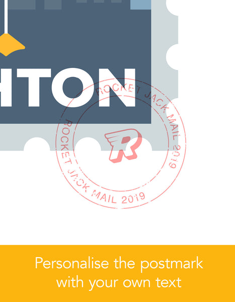Close up of personalised stamp