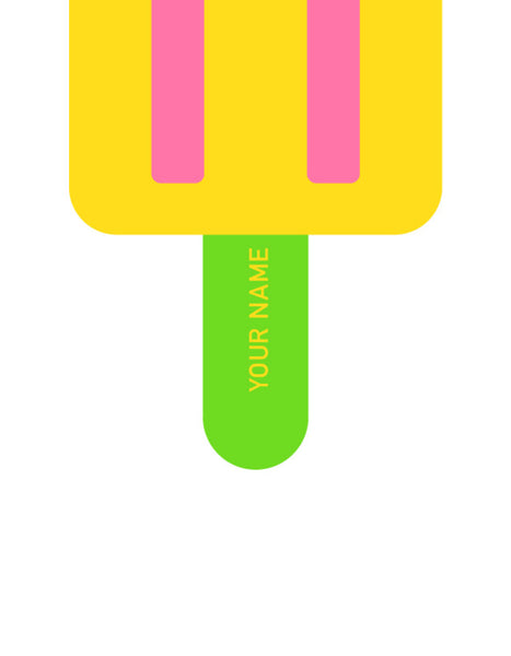 close up of green lolly stick with personalisation option