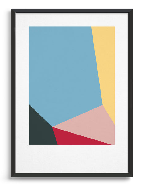 Modern minimal abstract art prints for a gallery wall