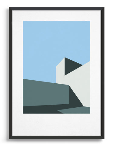 Minimal architecture inspired wall art / Abstract geometric poster for a gallery wall
