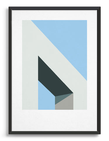 Home office art print / Minimal abstract gallery wall ideas