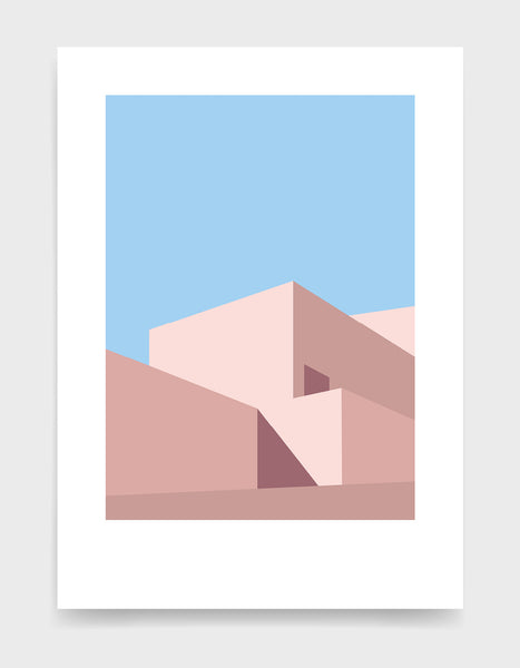 Abstract geometric art prints / Minimal architecture for modern home decor