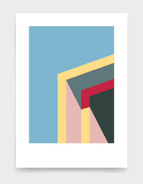 Minimal architecture poster / Abstract geometric art print