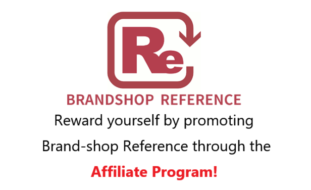 ★Reward yourself by promoting Brand-shop Reference through the Affiliate Program!