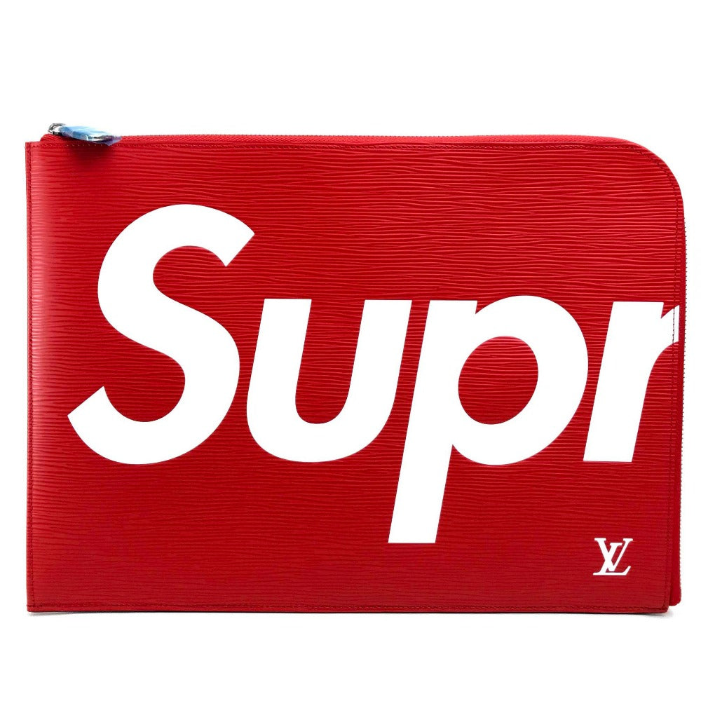 LOUIS VUITTON M67722 ルイヴィトン×シュプリーム エピ ポシェット・ジュールGM Supreme Louis Vuitton PO.JOUR GM SP EPI POCHETTE クラッチバッグ ユニセックス