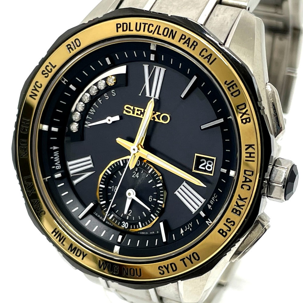SEIKO 8B54-OBGO/SAGA186 Breitz Solar Quartz Watch Titanium Men - brandshop-reference