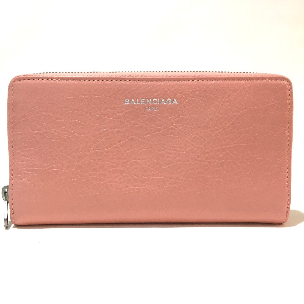 BALENCIAGA 419805 Roundfasner Chancellor's Purse, Exclusive Leather, Ladies, Long Purse (con un pequeño bolsillo) - Brandshop-Reference