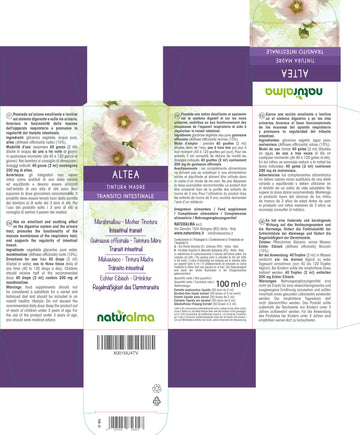 ALTEA (Althaea officinalis) radici - Tintura madre analcolica 100 ml