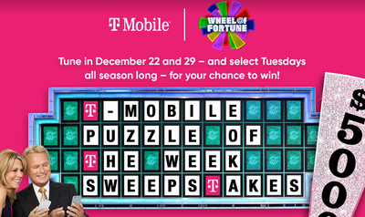 Wheel Of Fortune T-Mobile Sweepstakes
