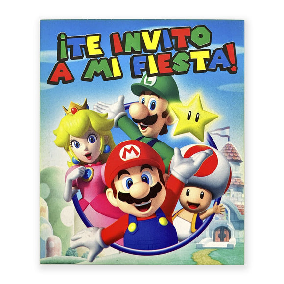 Invitación Super Mario