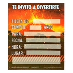 Invitaciones Jurassic World 6 pzs.