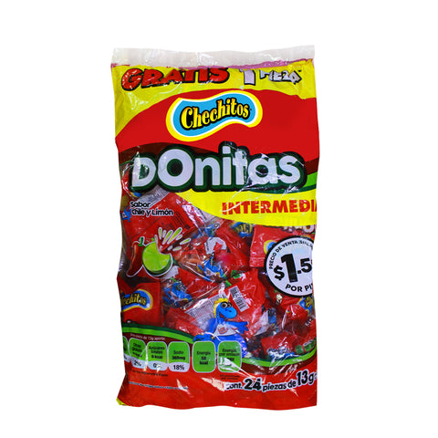 Donitas Chechitos Chile y Limón 24 pzs
