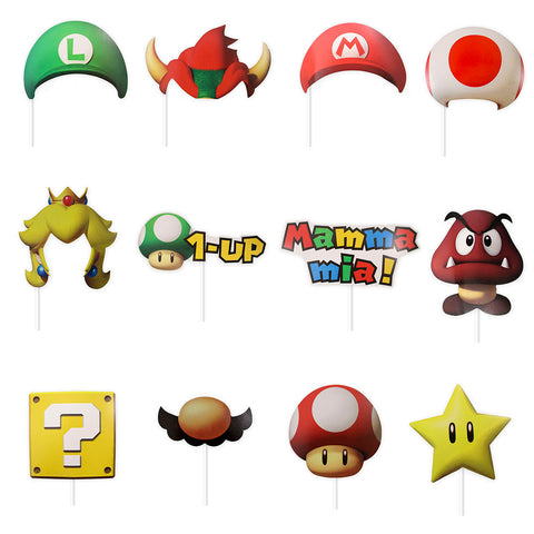 Photoprops Mario Bros 12 pzs.