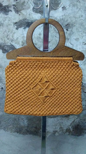 Sac à main  vintage orange  s/o