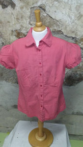 Chemise rouge fines rayures Mexx gr42