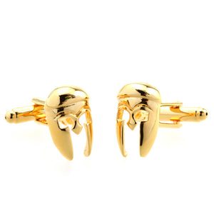 Gold helmet Cufflinks