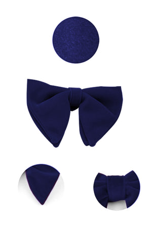 Blue Velvet Butterfly Bow Tie