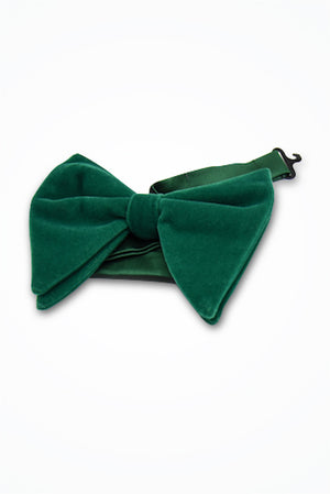 Green Velvet Butterfly Bow Tie