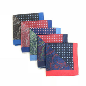 Keye London Pocket Square Paisley Group