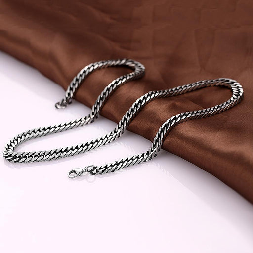 Mens Necklace Stainless Steel Classic Cuban Chain
