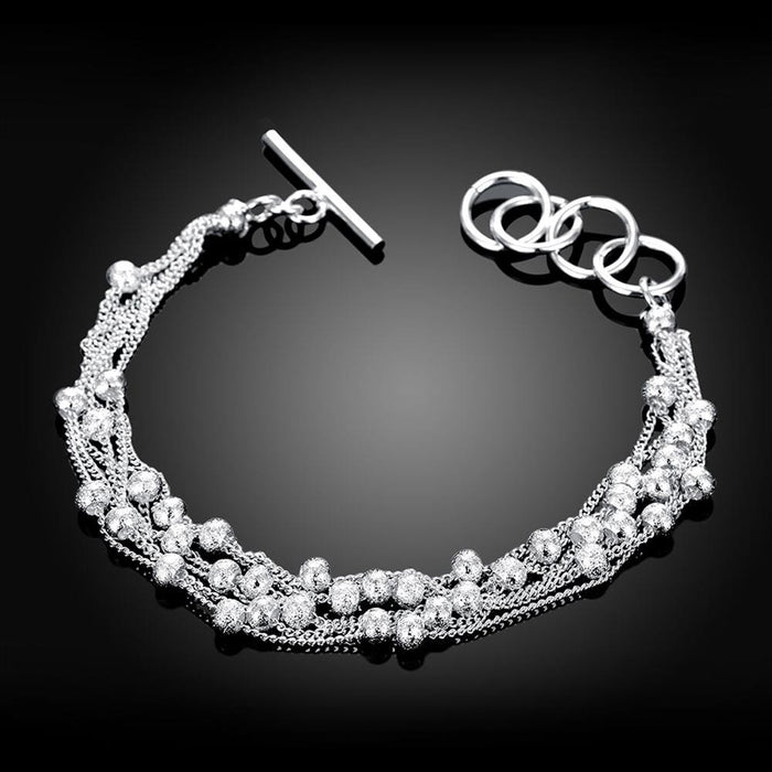 Bracelet 18K White Gold Plated Bubble Pearl