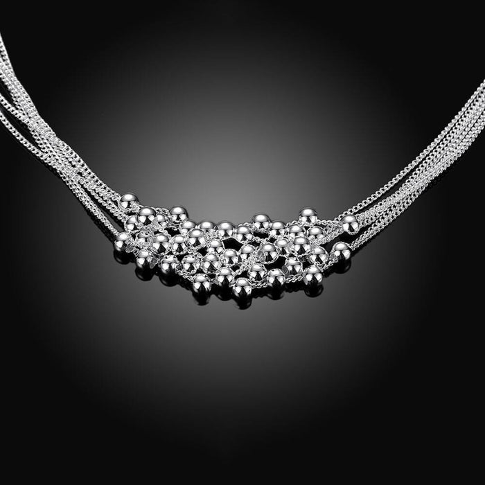 Necklace 18K White Gold Plated Bubble