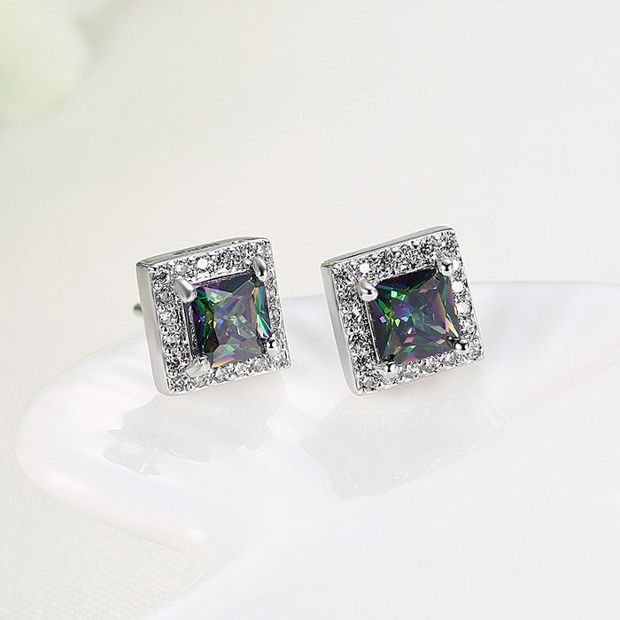 Earrings Swarovski Crystal Mystic Topaz Stud