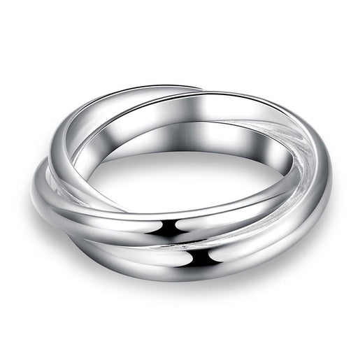 Ring White Gold Plated Rolling Bands
