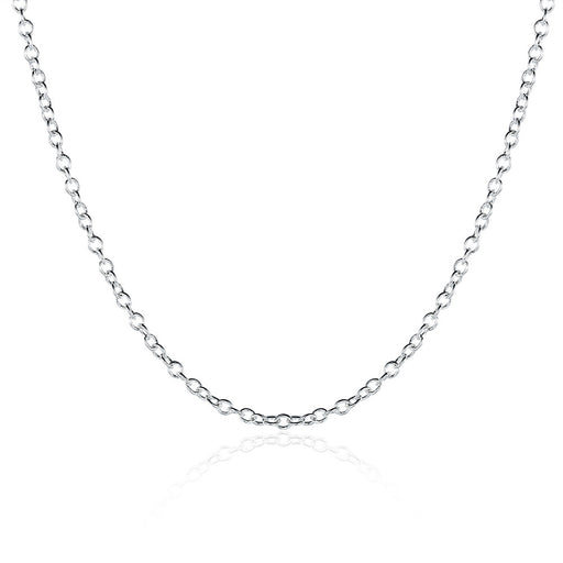 Necklace White Gold Plated Chain 5 Pack