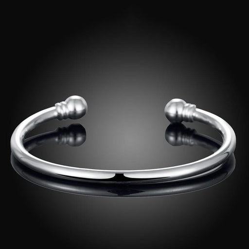 Bangle 18K White Gold Plated Classic