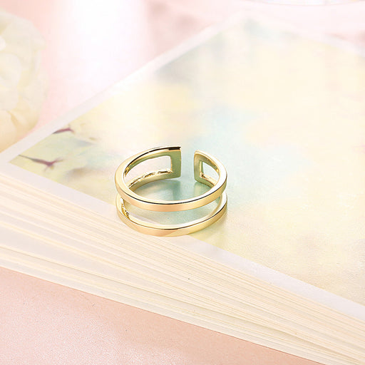 Ring 18K Gold Filled Adjustable in Yellow or Rose Gold