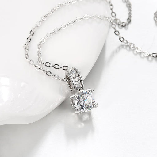 Necklace Swarovski Crystal 18K White Gold Plated Diamond Simulated