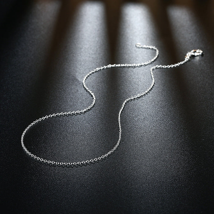 Necklace White Gold Plated Link Chain