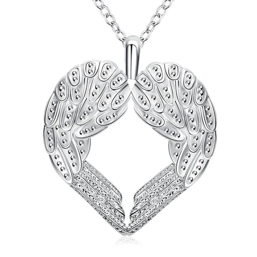 Necklace 18K White Gold Plated Wings of an Angel
