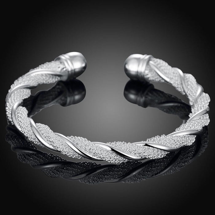 Bangle Twisted Mesh in Sterling Silver