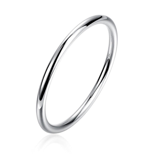 Bangle White Gold Plated Solid