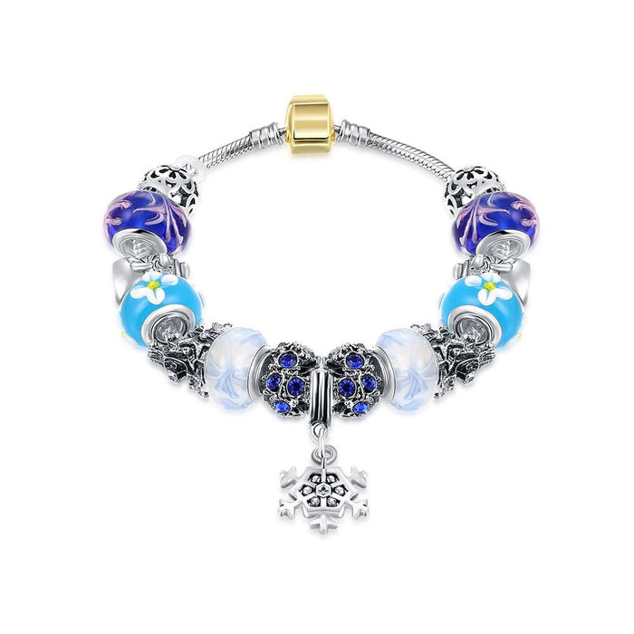 Pandora Bracelet Royal Blue Star of David Made with Swarovski Elements