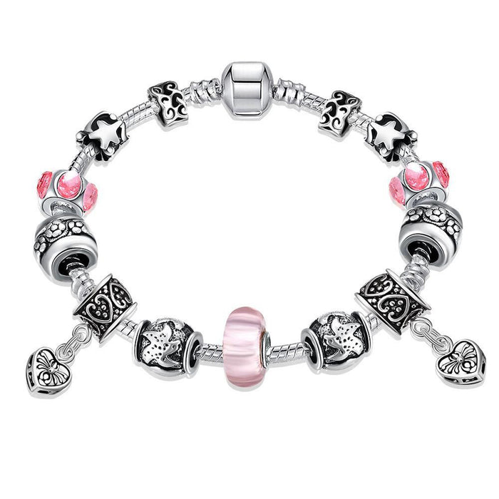 Pandora Bracelet Starfish and Hearts Made with Swarovski Elements