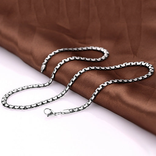 Mens Necklace Stainless Steel Classic Paris Chain