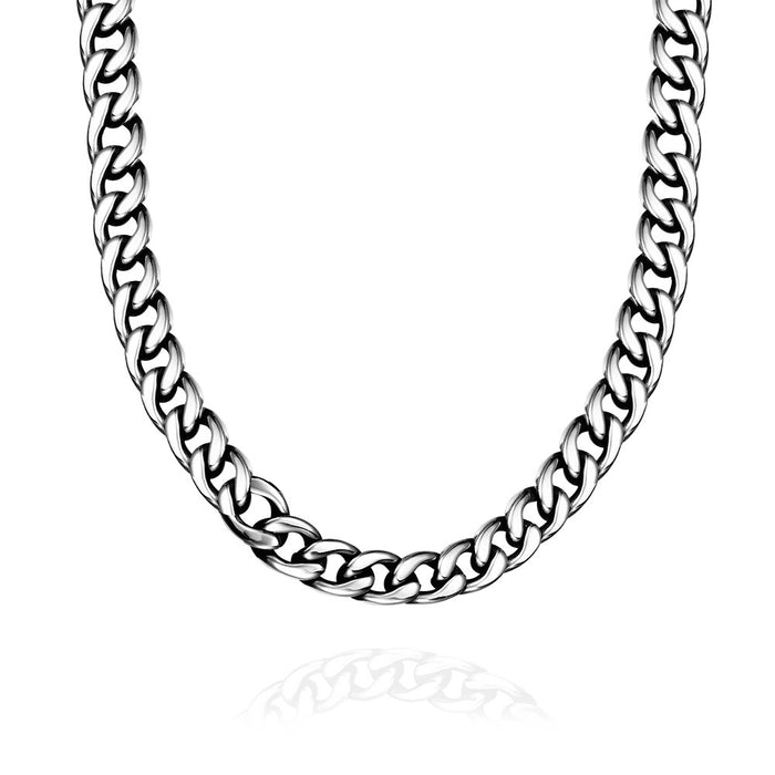 Mens Necklace Stainless Steel Greek Inspired
