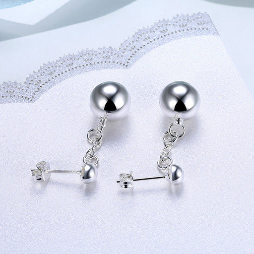 Earrings 18K White Gold Plated Drop Pearl