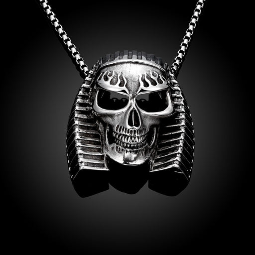 Mens Stainless Steel Necklace Pharaoh's Emblem