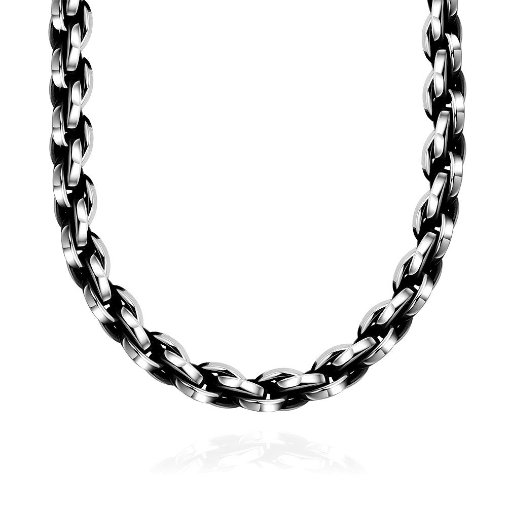 Mens Necklace Stainless Steel Classic London Chain