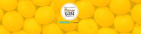 Sweet Potato Orange Gin Liqueurs Background