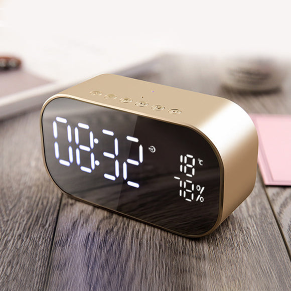 Wireless Bluetooth Speaker With Digital Alarm Clock Hunt Gizmo