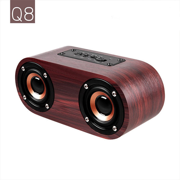 Wooden Finish Wireless Bluetooth Speaker Hunt Gizmo