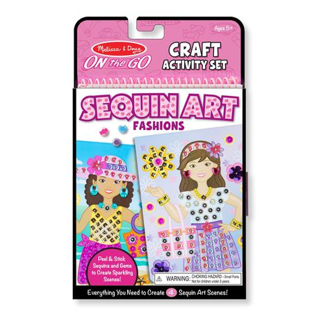 M&D On the Go Crafts - Sequin Scenes